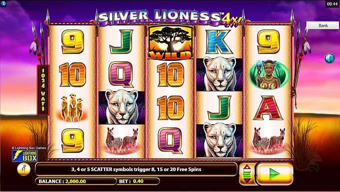 silver lioness 4x slot game at HappyLuke Vietnam online casino